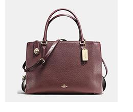 Brooklyn Carryall 34 | Burgundy Coach Bag