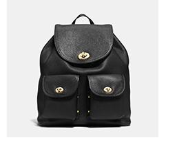 Turnlock Rucksack | Black Coach backpack