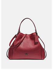 Edie Shoulder Bag 28 | Red edie coach shoulder bag