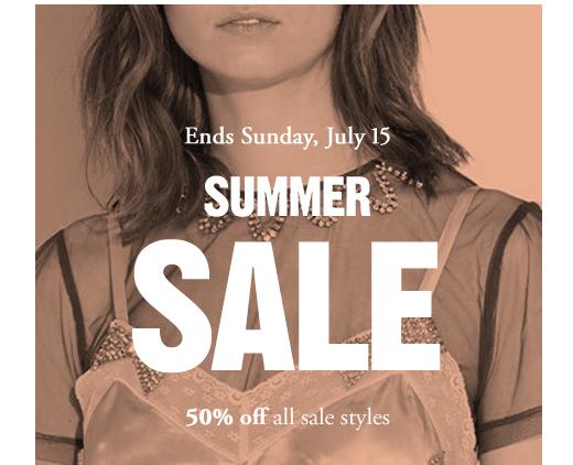 Ends Sunday, July 15 | SUMMER SALE