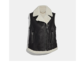 image of shearling vest