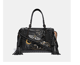 image of black dreamer bag with moon sign