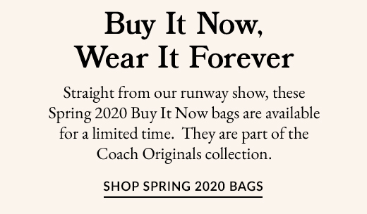 Buy It Now, Wear IT Forever | SHOP SPRING 2020 BAGS