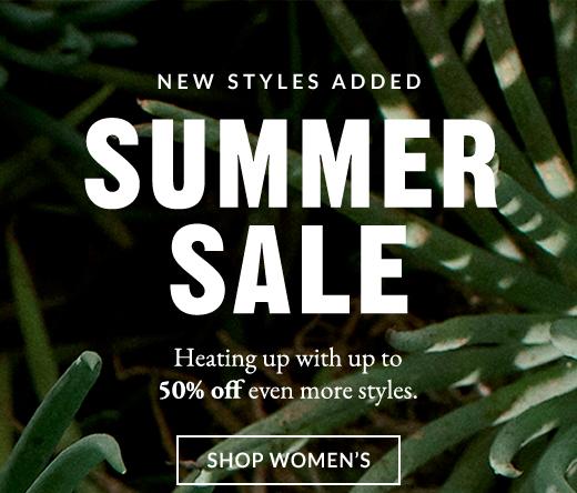 NEW STYLES ADDED   SUMMER SALE   SHOP WOMEN'S