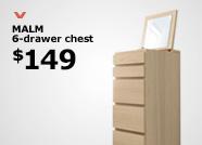 MALM 6-drawer chest $149
