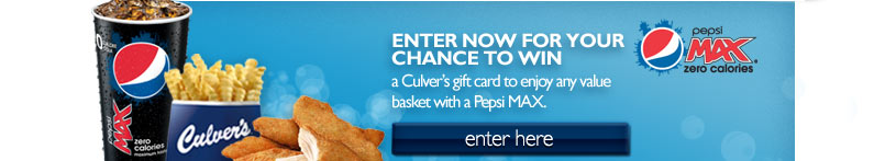 Enter now for your chance to win a Culver's gift card.
