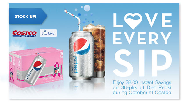 Love Every Sip. Enjoy $2 savings on 36 pks in October with Costco.