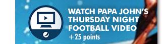 Watch Papa John's Thursday Night Football Video