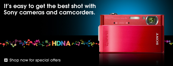 It's easy to get the best shot with Sony cameras and camcorders.                            Shop now for special offers