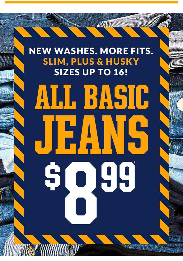 All Basic Jeans $8.99