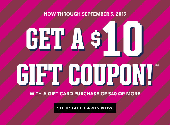 Get a $10 Gift Coupon!