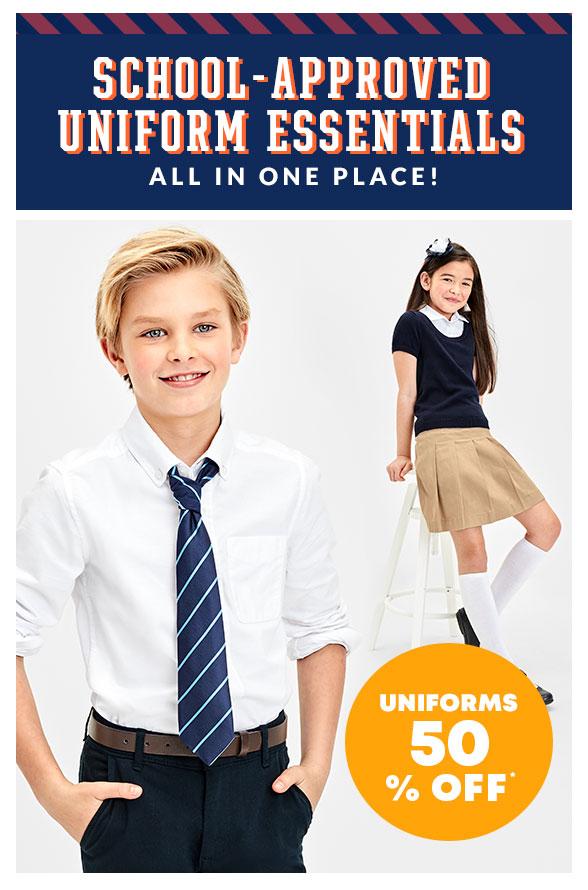 Uniforms 50% off