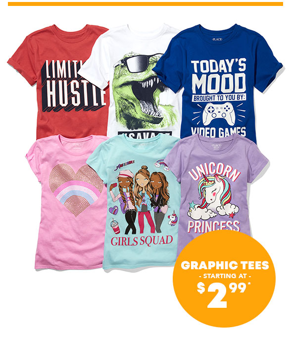 Graphic Tees Starting at $2.99