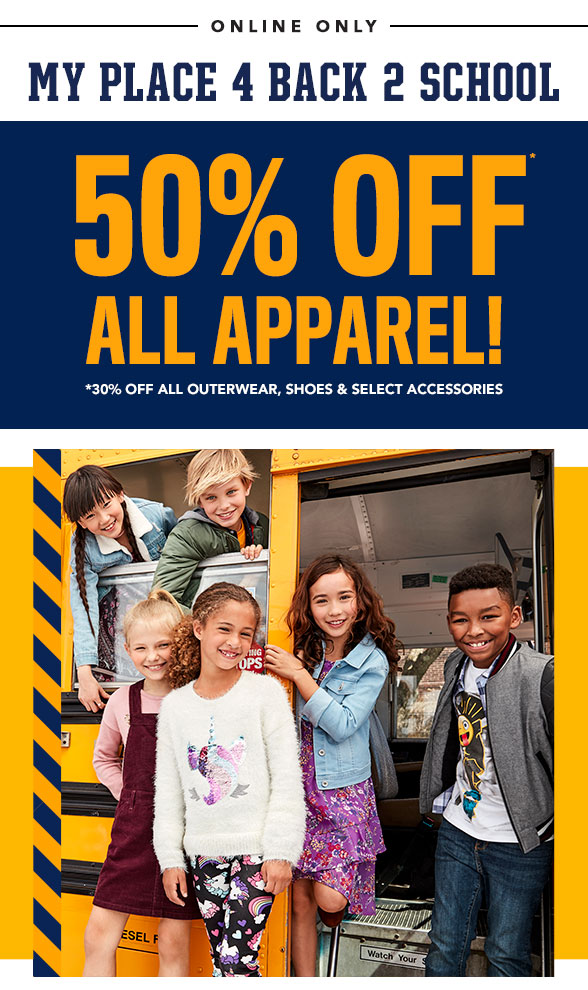 All Apparel 50% Off