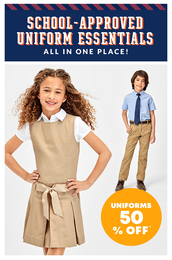 Uniforms 50% off