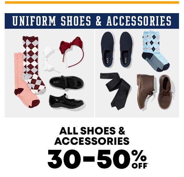 30-50% Off Uniform Shoes & Accessories