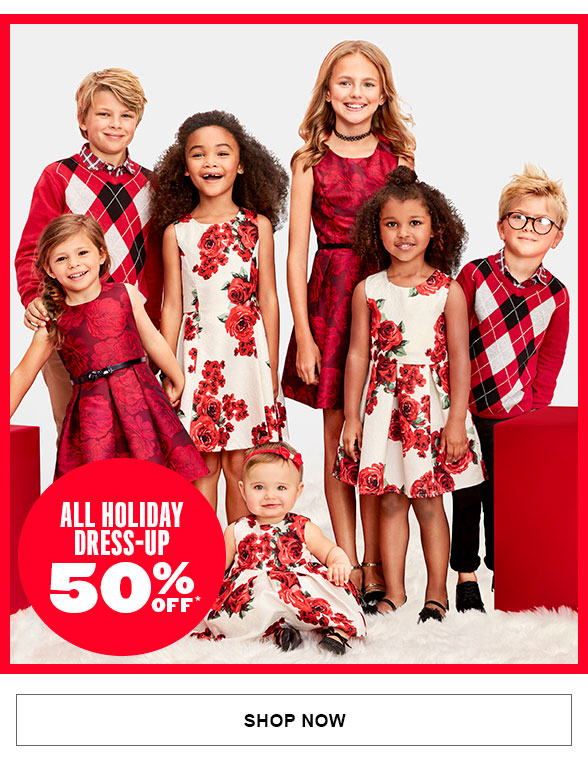 All Holiday Dress Up 50% Off