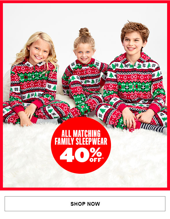 All Matching Family Sleepwear 40% Off