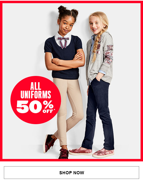 50% Off All Uniforms