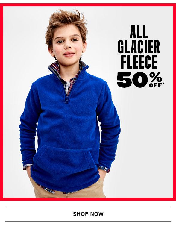 50% Off All Glacier Fleece