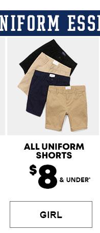 Girls Uniform Shorts