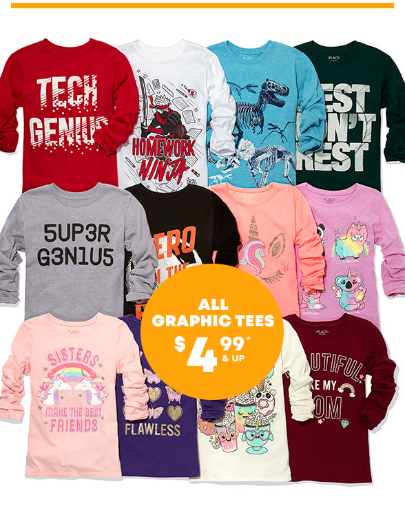 Graphic Tees Starting at $2.99