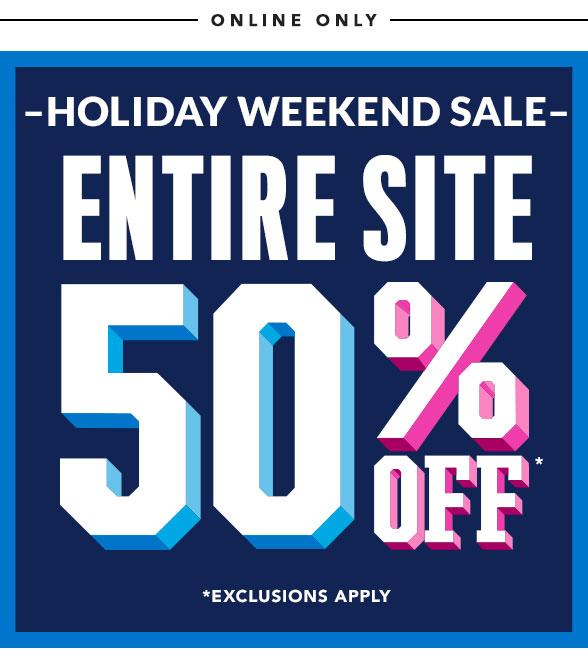 Entire Site 50% Off