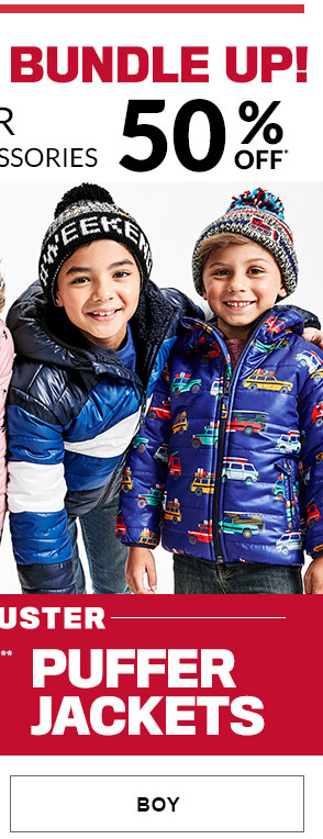 Boy - 50% Off Outerwear & Cold Weather Accessories