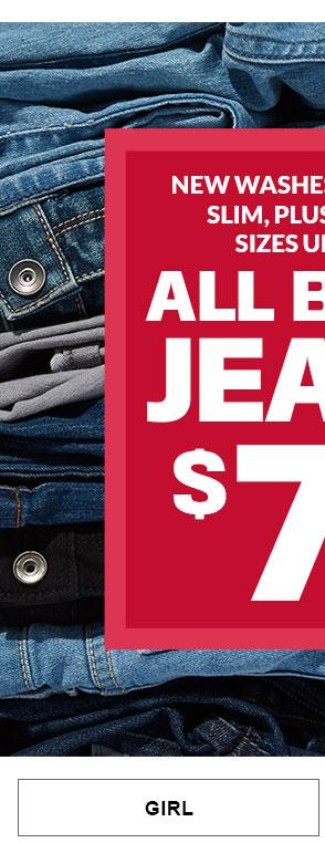 Girl - Basic Jeans $7.99 & Up