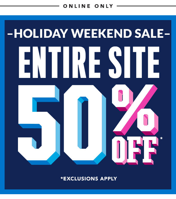 Entire Site 50% Off
