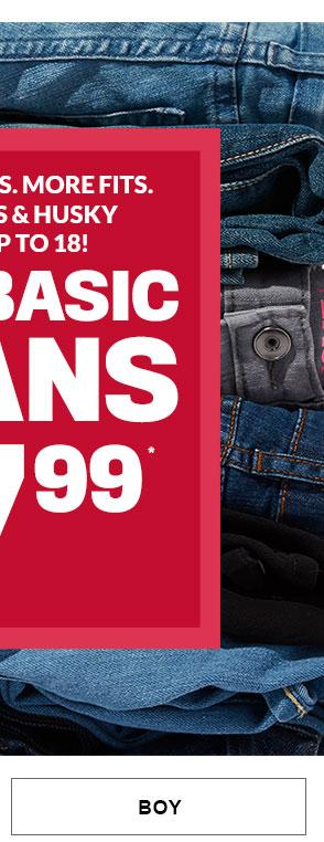 Boy - $7.99 All Basic Jeans