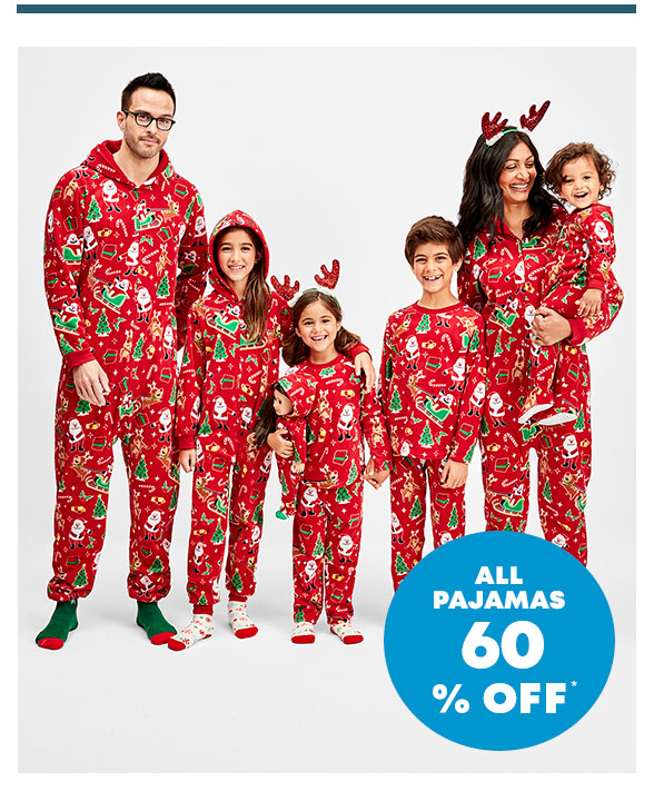 60% Off Matching Family Pajamas