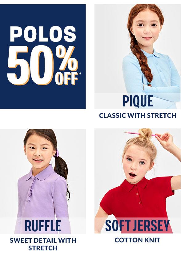 50% Off Girl Polos