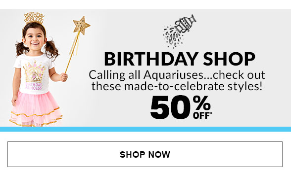 50% Off Birthday Shop