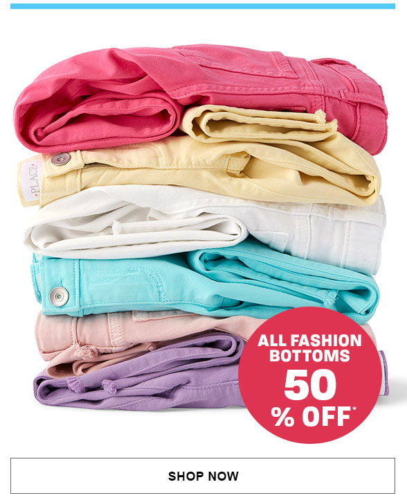 50% Off All Fashion Bottoms