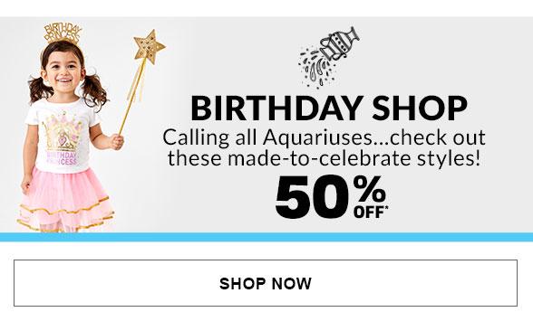 50% Off Birthday Shop