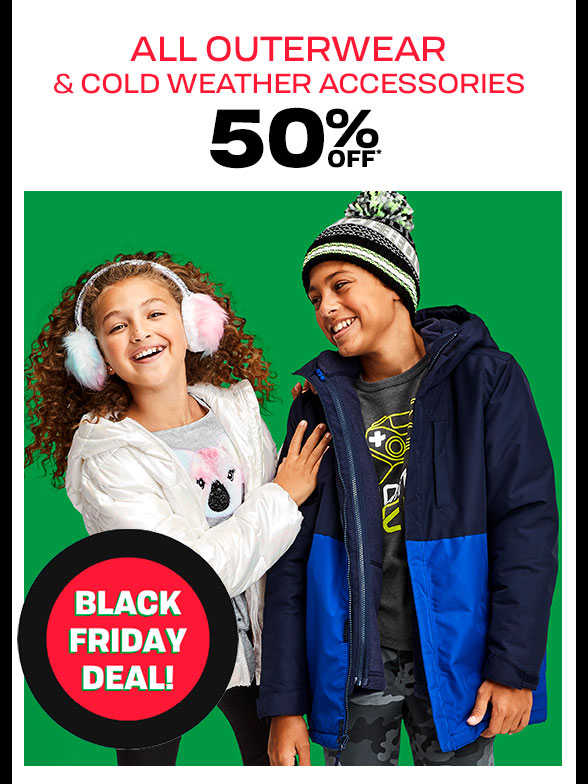 50% off All Outerwear & CWA
