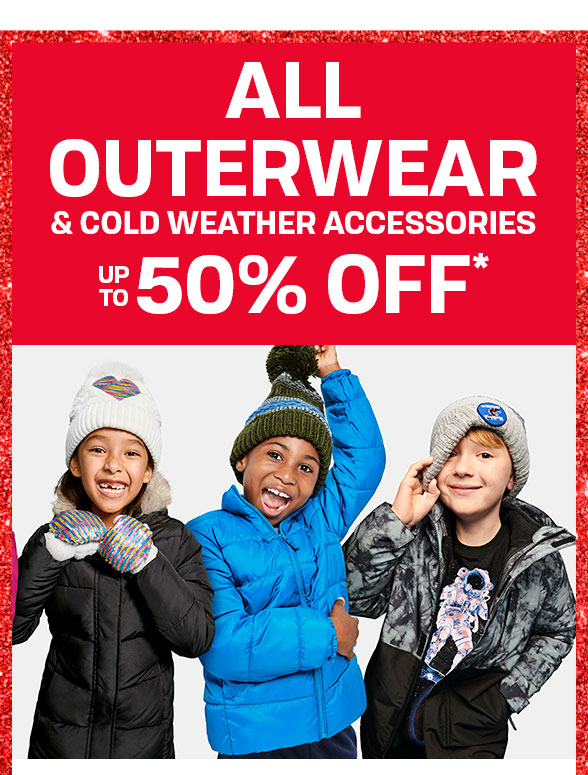 Up to 50% off All Outerwear
