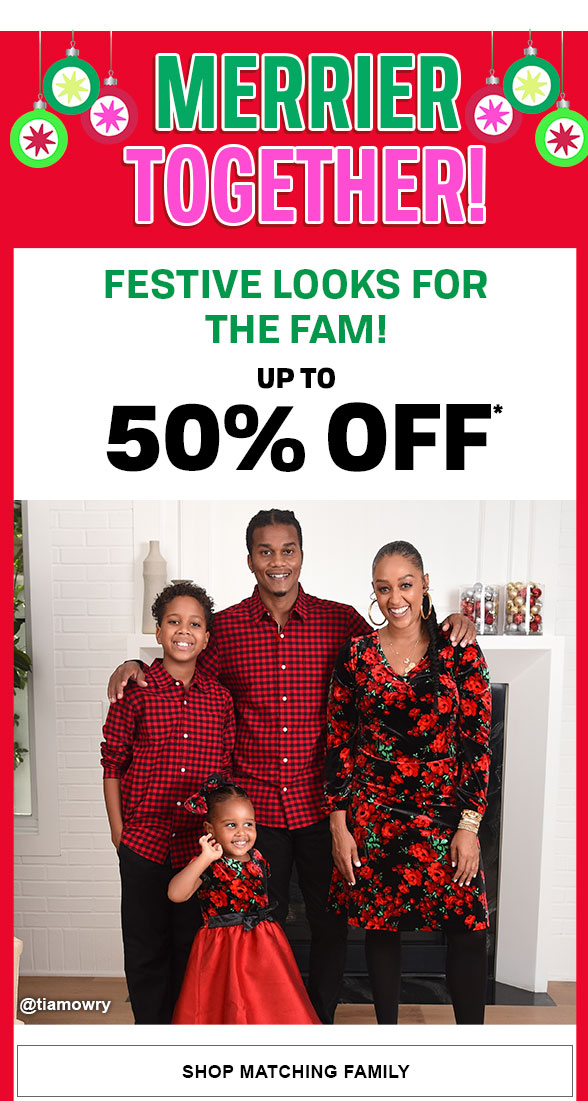 Up to 50% Off Holiday Family Looks