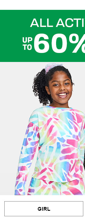 Up to 60% off All Activewear - Girl