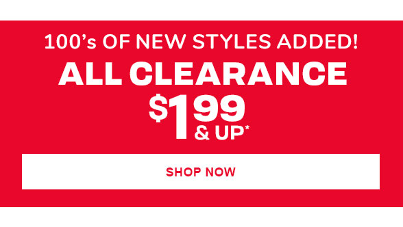 $1.99 & Up All Clearance