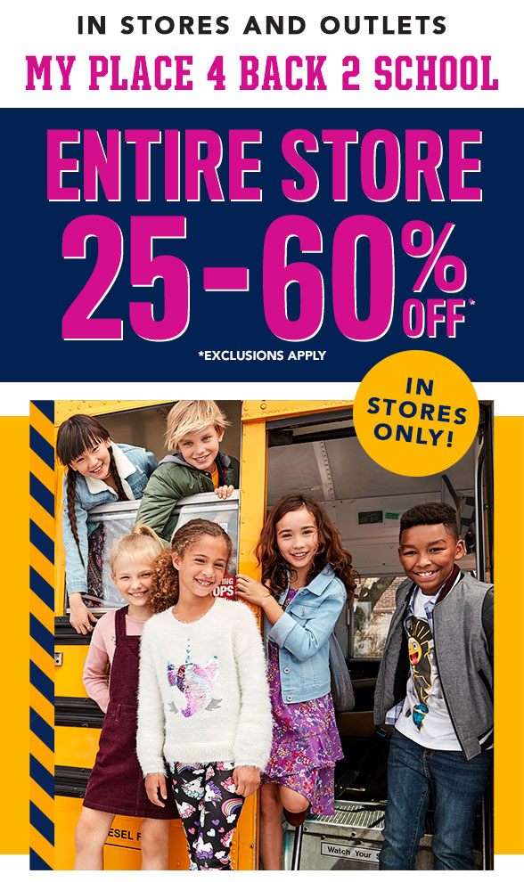 Entire Store 25-60% Off!