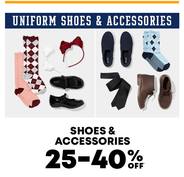 25-40% Off Uniform Shoes & Accessories