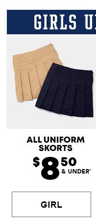 Girls Uniform Skorts