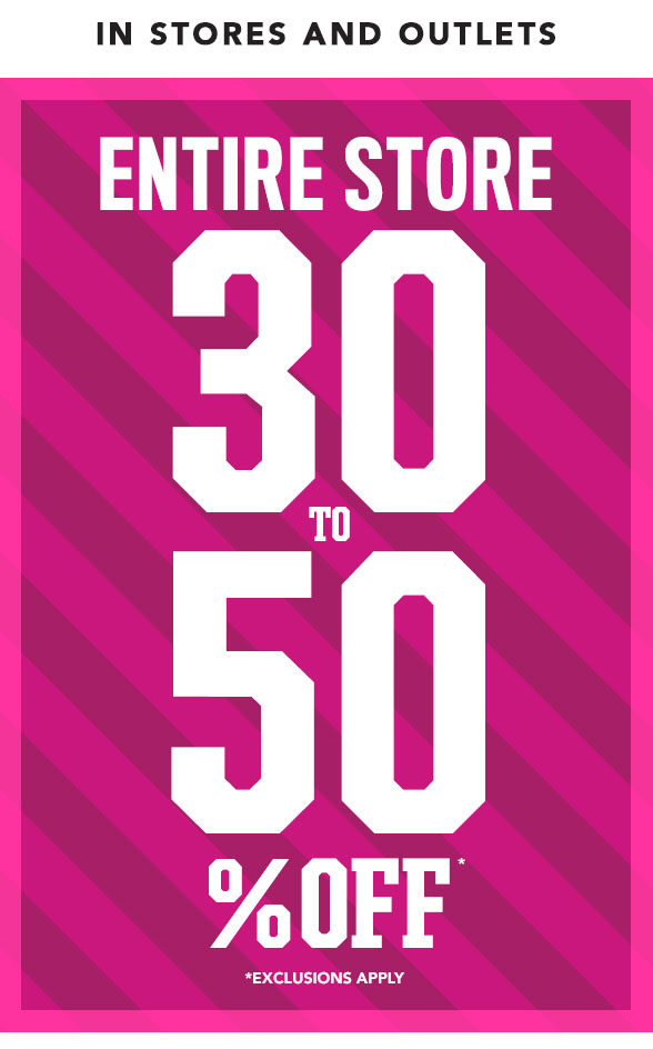 Entire Site 30 to 60% Off