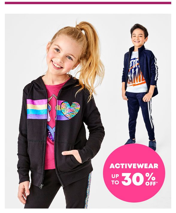 Activewear up to 30% Off