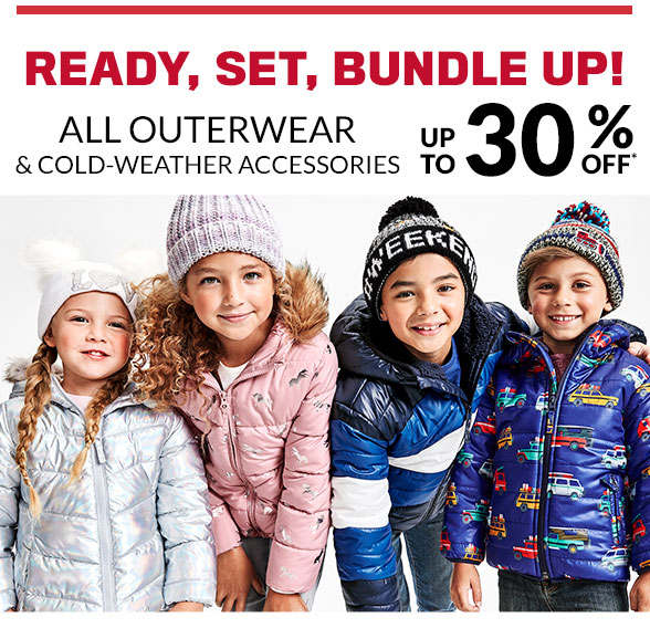 Up to 30% Off All Outerwear & Cold Weather Accessories