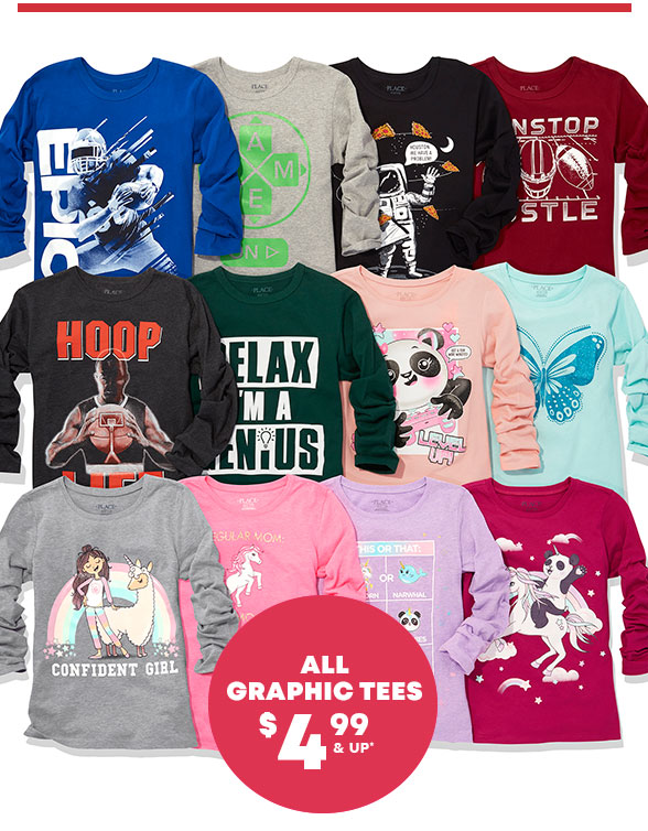 All Graphic Tees $4.99 & Up
