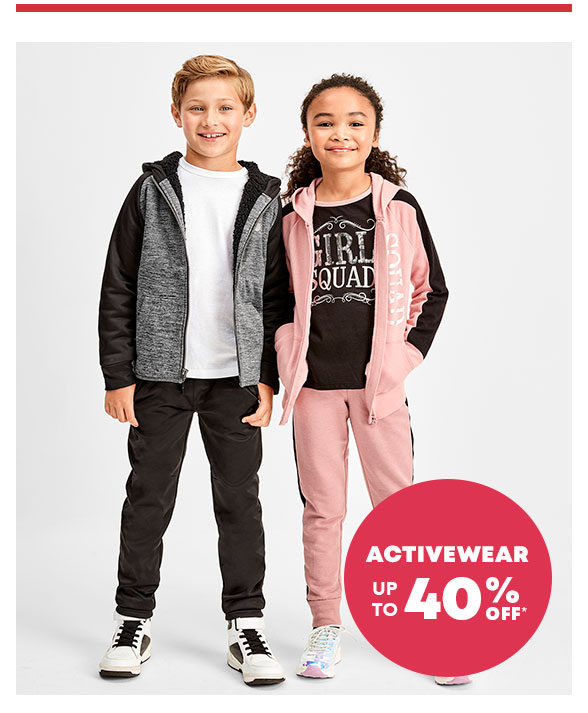 Activewear up to 40% Off