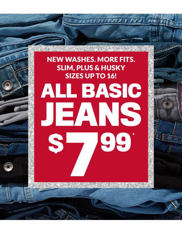 $7.99 Basic Jeans